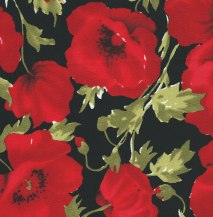 red poppies - 110 cm wide